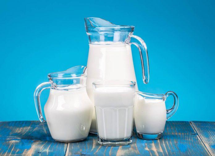 jars and glass of milk
