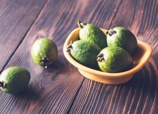 bowl of feijoa guava fruits