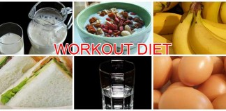 Pre-workout and post-workout diet
