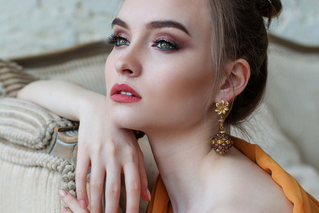 Girl with beautiful earrings
