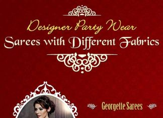 Designer-Party-Wear-Sarees-with-Different-Fabrics