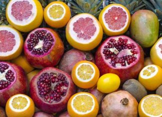Fruits-Pomegranate and Orange