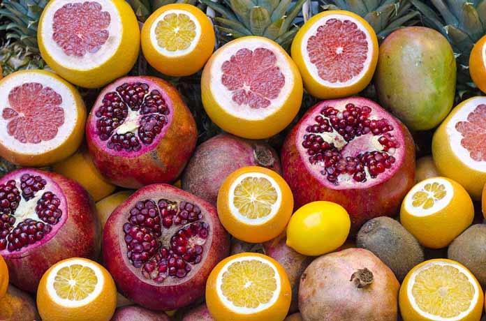 Fruits-Pomegranate and Orange