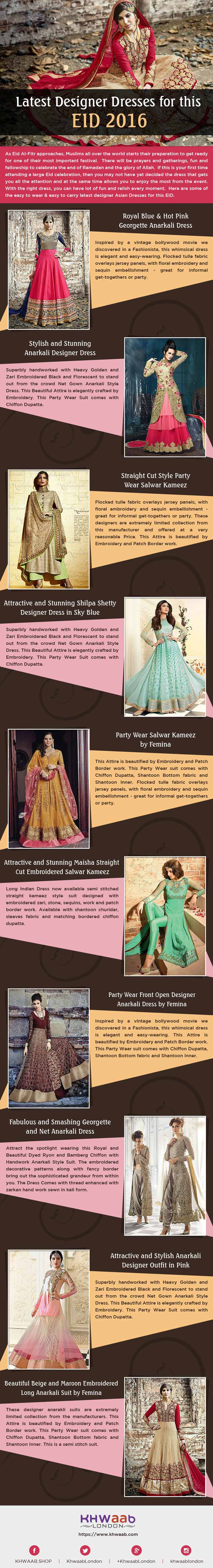 Latest Designer Dresses for This EID 2016