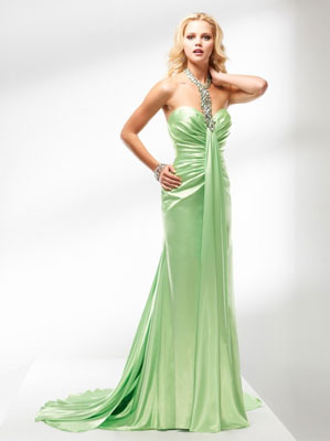 Long Silky Sheath Dress