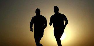 Runners at dawn