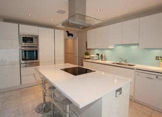 White-quartz-kitchen-worktops