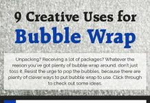 9 Creative Uses for Bubble Wrap