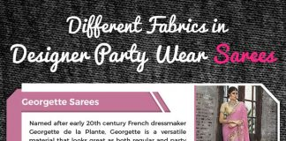 Different Fabrics in Designer Party Wear Sarees
