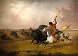 Buffalo-Hunt-on-the-Southwestern-Prairies