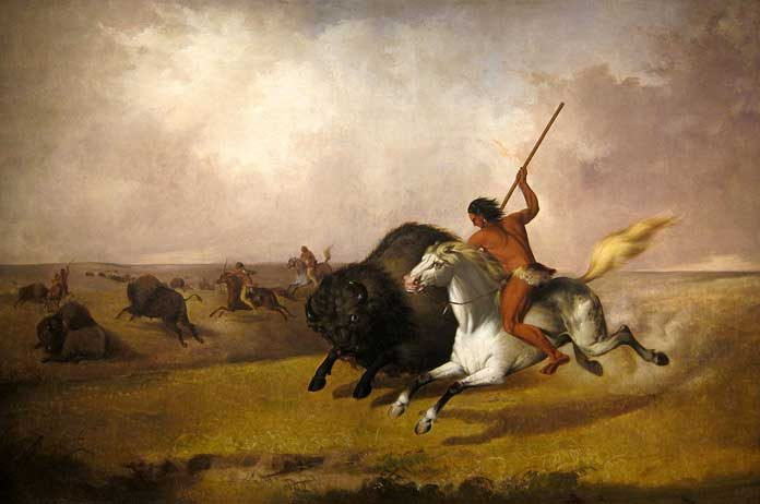 Buffalo-Hunt-on-the-Southwestern-Prairies