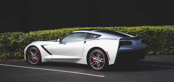 white-coupe-car