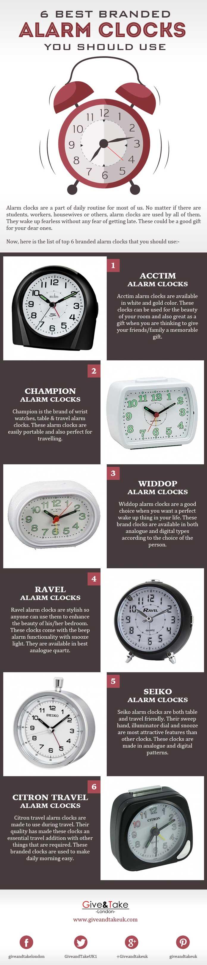 6 Best Branded Alarm Clocks you should Use