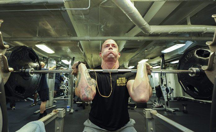 Workout at gym