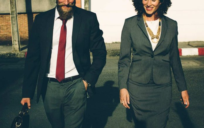 Corporate Man and Woman