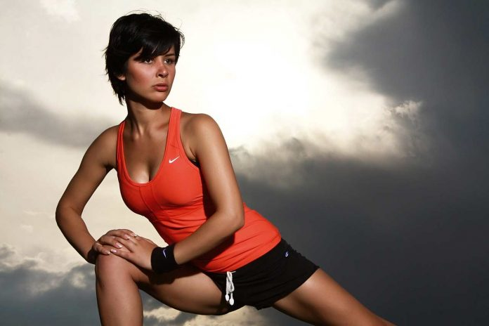 Girl Stretching Workout