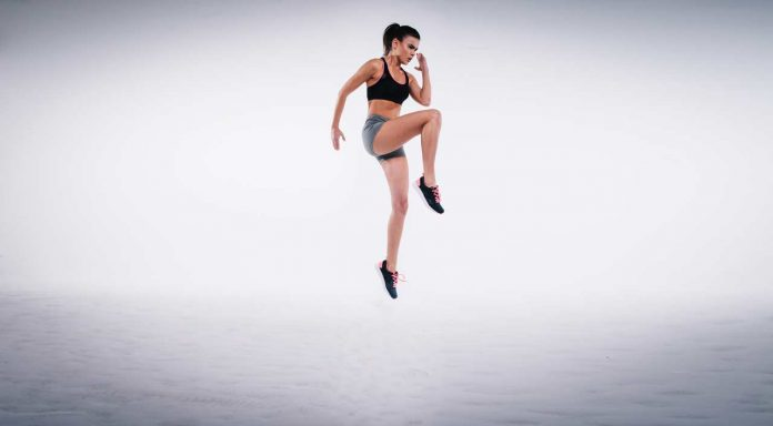 Jumping Girl, Exercising, Workout