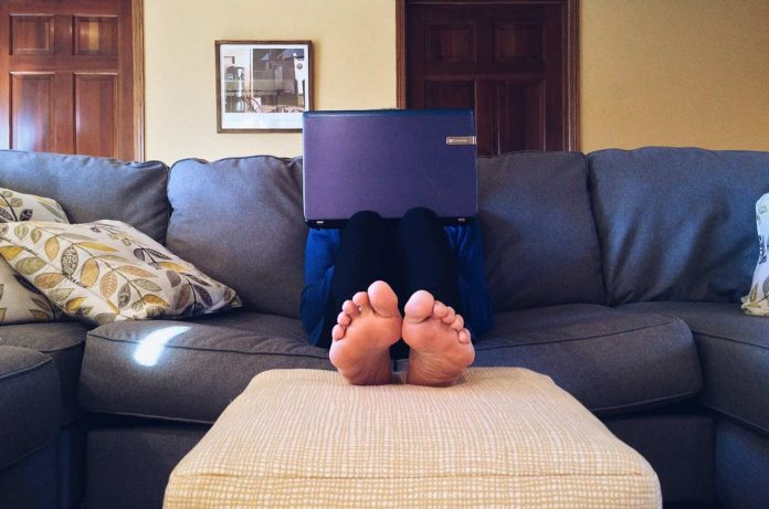 Telecommuters working from home