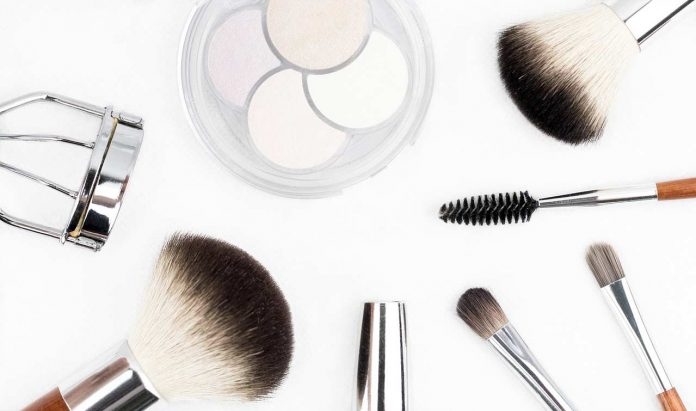Makeup products and brushes