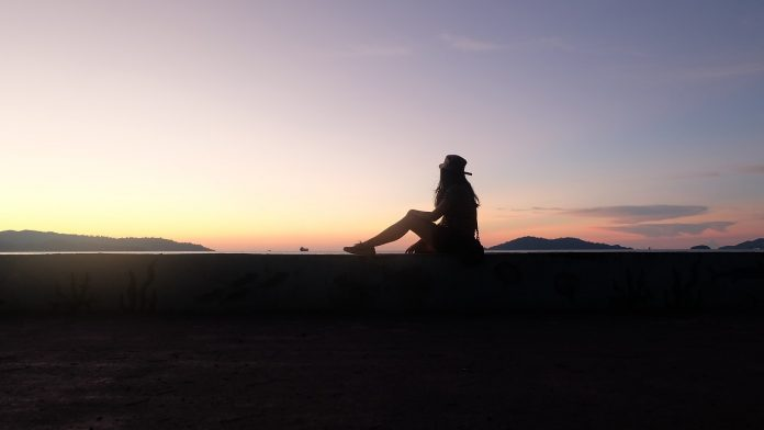 Girl traveling alone