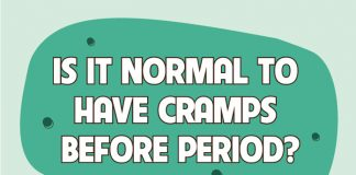 How to handle cramps before the period