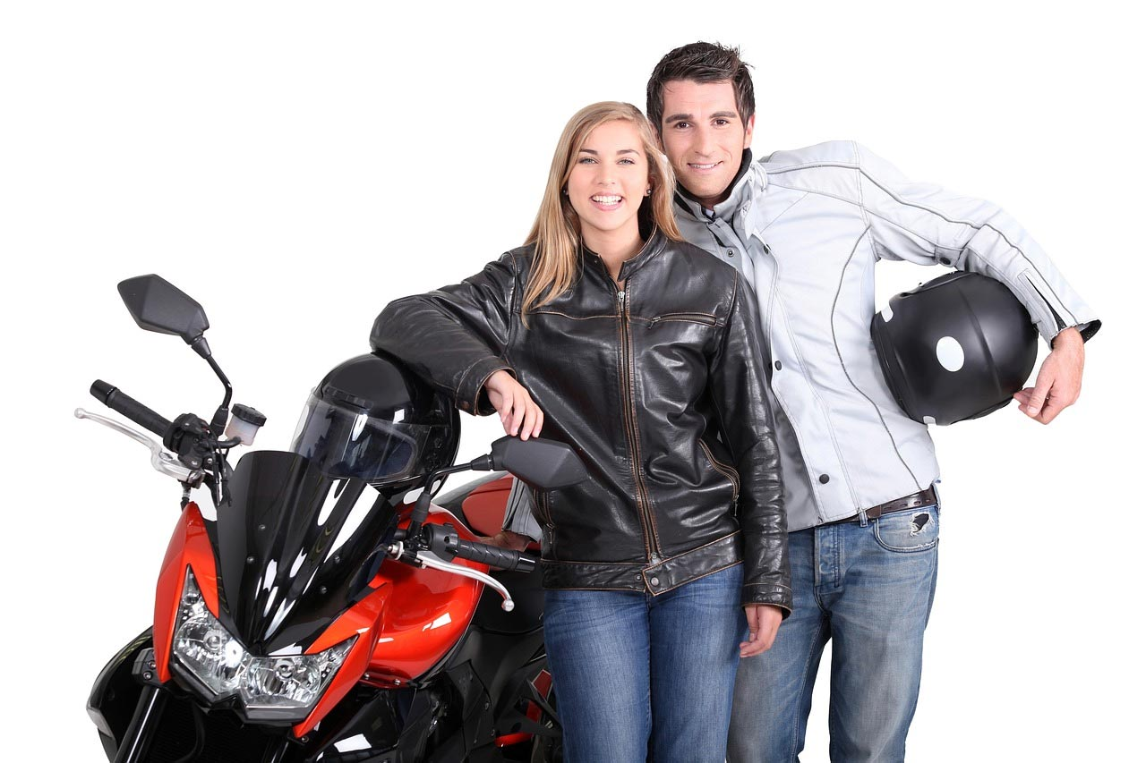 Couple motor bike safety