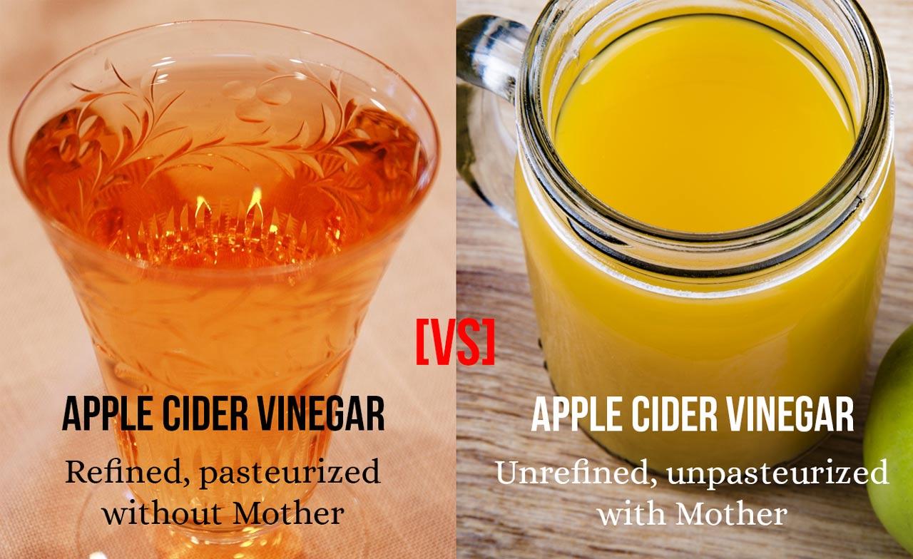 Apple Cider VInegar with Mother comparison