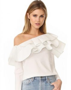 Asymmetric off shoulders top