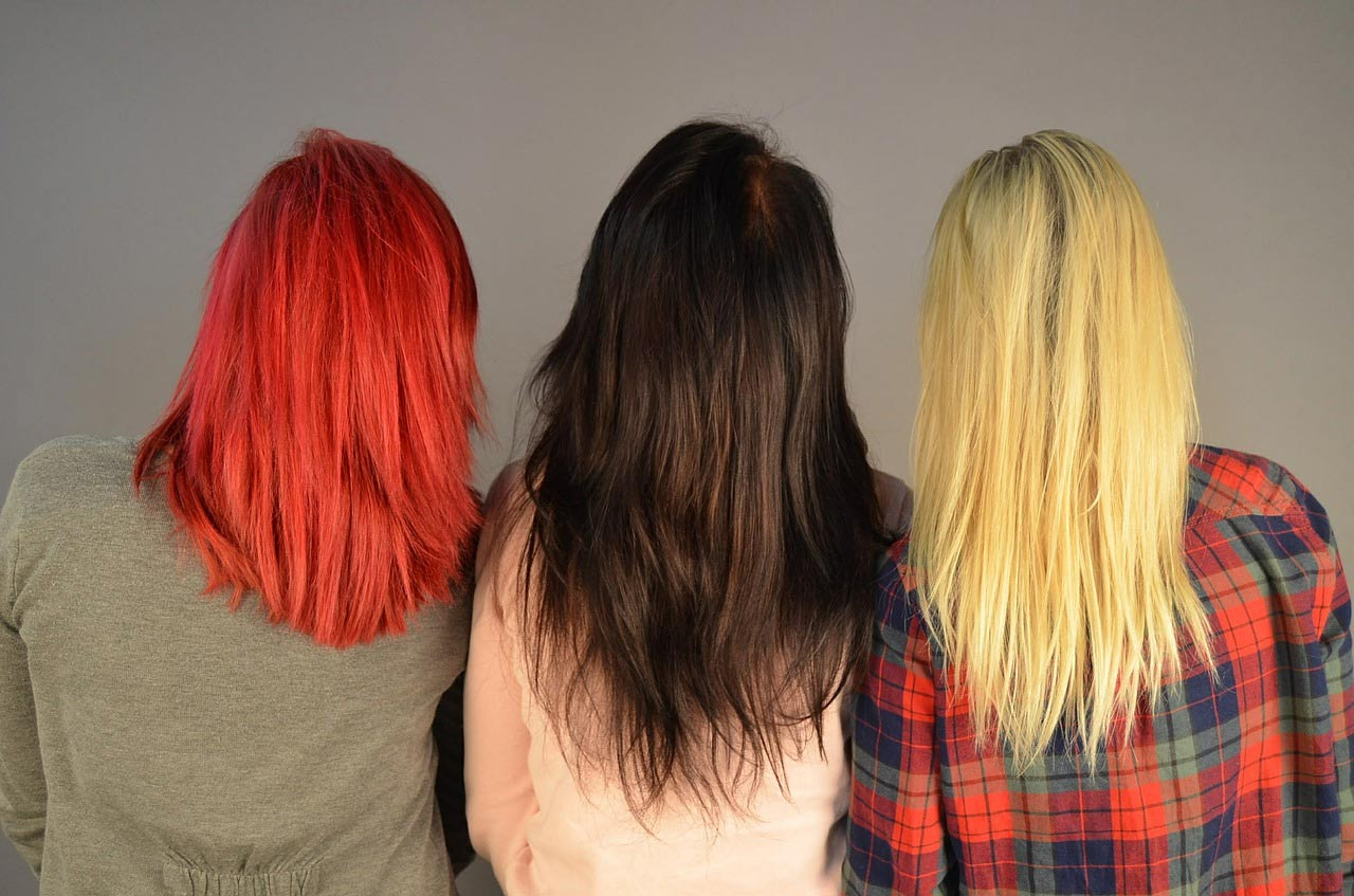 Girls with vibrant hair color