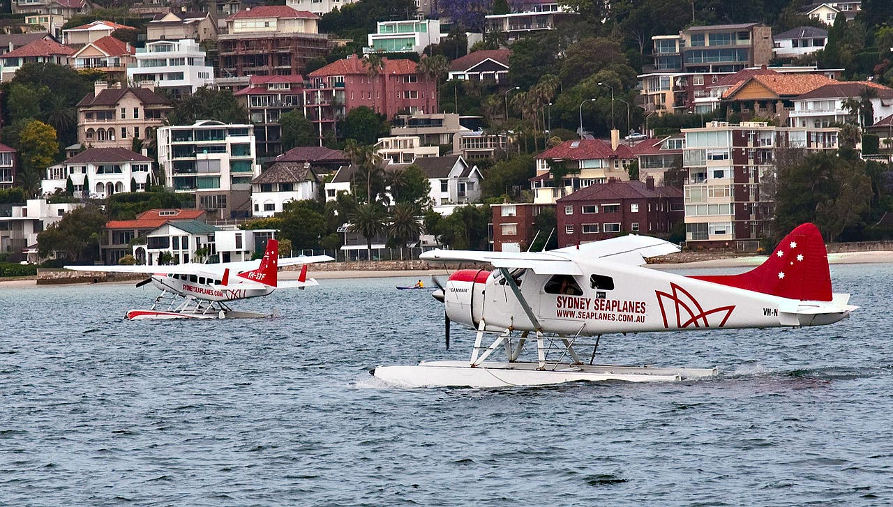 Seaplane at Sydney Harbour