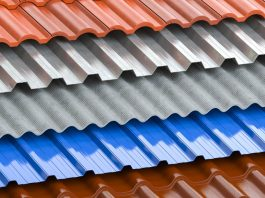 Different type of roof design and colors for home