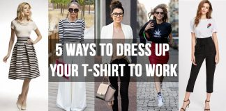 5 ways to dress up your t-shirt to work