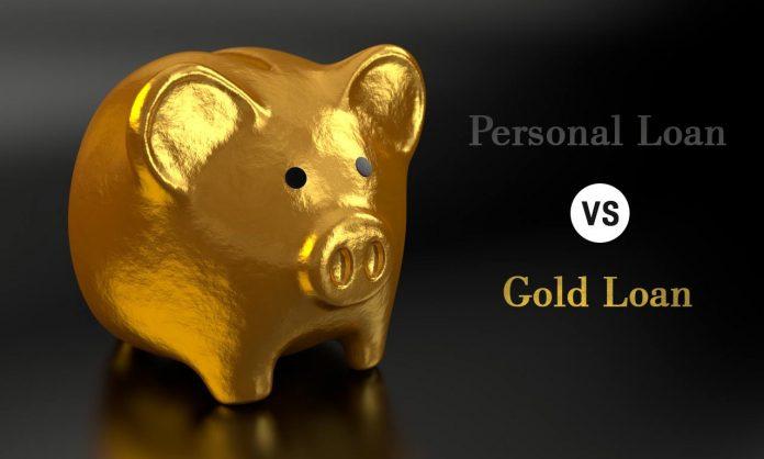 Personal loan vs gold loan