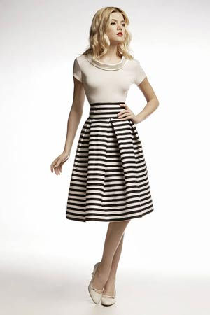 Short Sleeved T-shirt with Midi Skirt