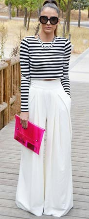 Striped Tee with Palazzo Pants