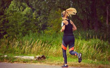 girl running with cardiac monitor