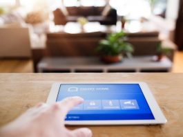 A tablet with smart home screen