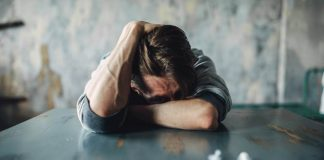Drug addiction withdrawal symptom