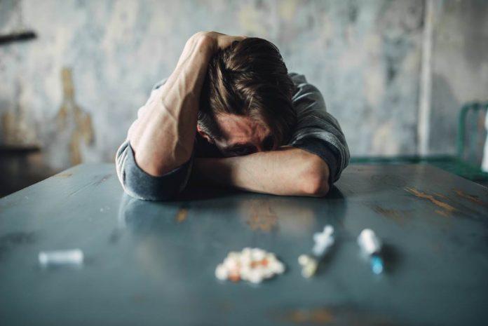 Drug addiction withdrawal symptom