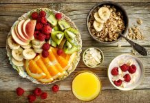 healthy breakfast ingredients