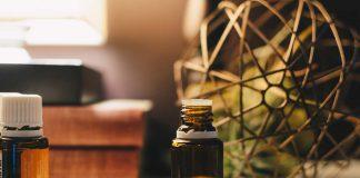 oil in an amber bottle