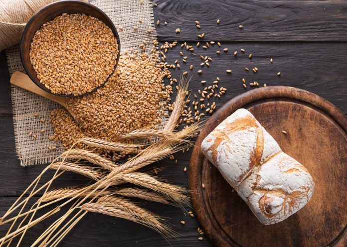 bread bakery background whole grain loaf