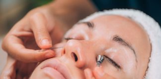 face massage with lymphatic drainage sticks