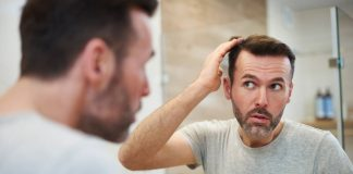 mature men is worried about hair loss