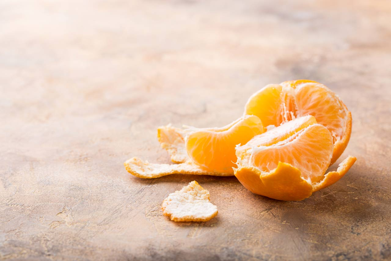 fresh peeled orange