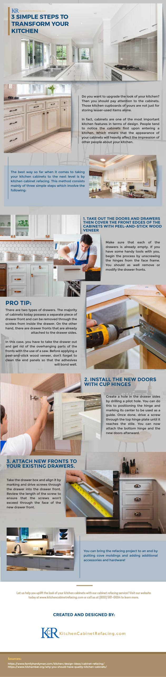 3 Simple Steps to Transform Your Kitchen Cabinets