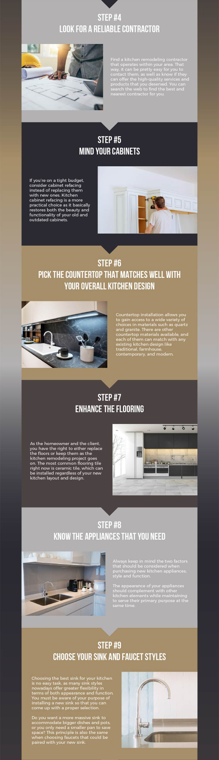 A 10-step process for a successful kitchen remodeling project - Infographic 11