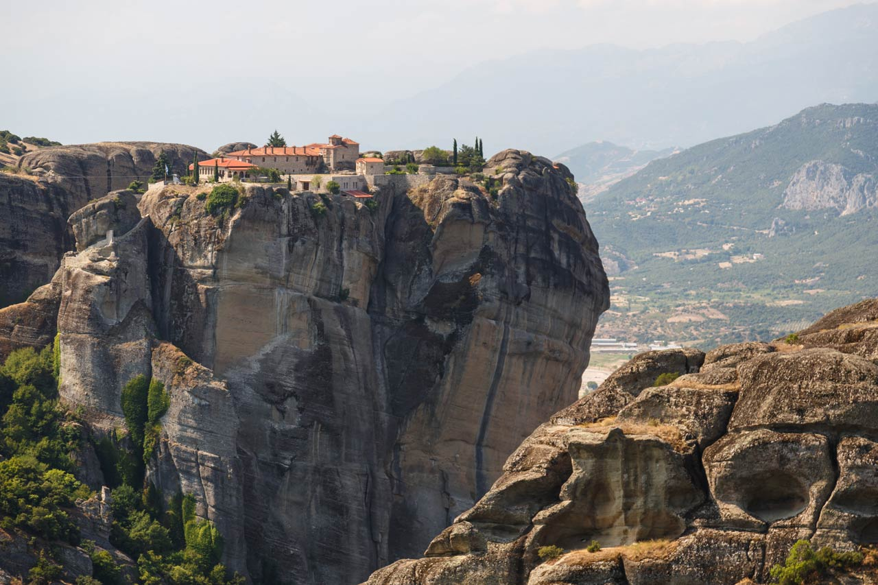 Meteora monasteries. Kastraki, Greece.