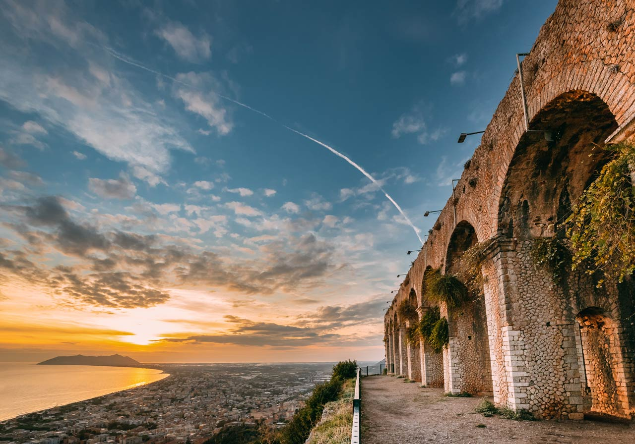 Terracina, Italy. Remains Of Temple Of Jupiter Anxur